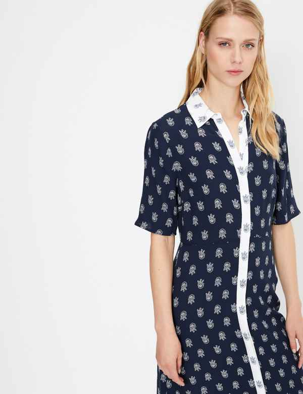 9b4565734 Foulard Printed Midi Shirt Dress