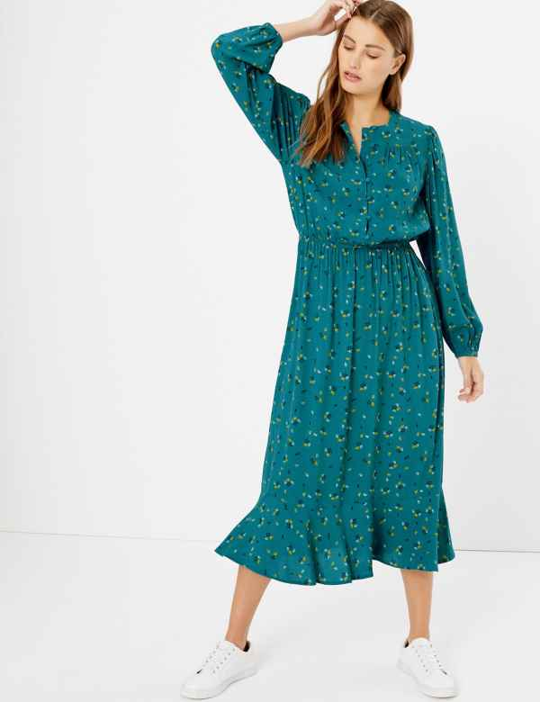 cdd1b5a4ee4 Green Dresses | Khaki, Mint, Teal & Emerald Ladies Dress| M&S