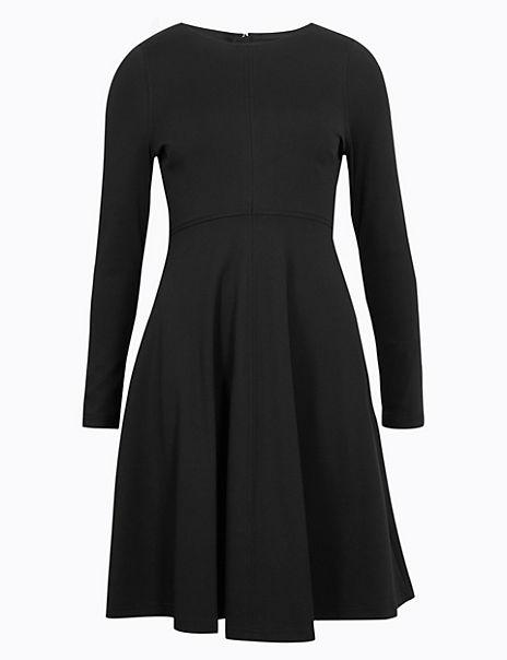 PETITE Fit & Flare Midi Dress
