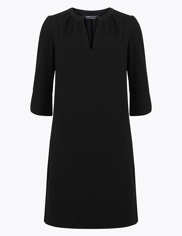 petite-crepe-shift-dress by standard-tracked: