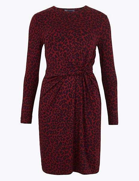 Animal Print Bodycon Mini Dress