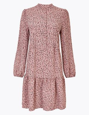 Ditsy Floral Print Relaxed Mini Dress by Marks & Spencer