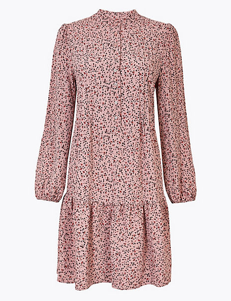 Ditsy Floral Print Relaxed Mini Dress