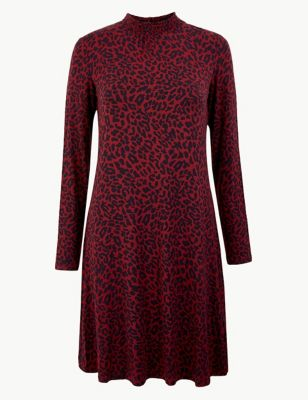 Animal Print Jersey Swing Dress by Marks & Spencer