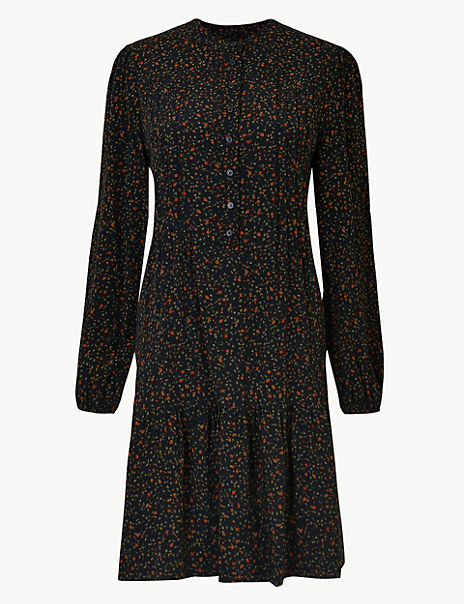 Ditsy Print Relaxed Mini Dress