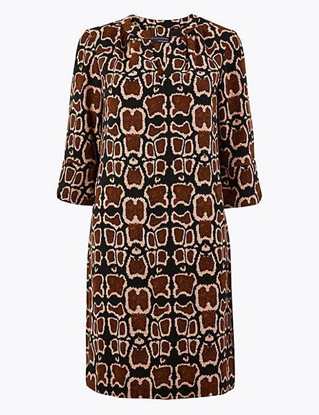 PETITE Animal Print Shift Dress