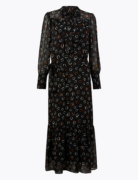 Printed Relaxed Midi Dress