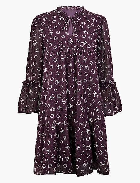 Printed Relaxed Mini Dress