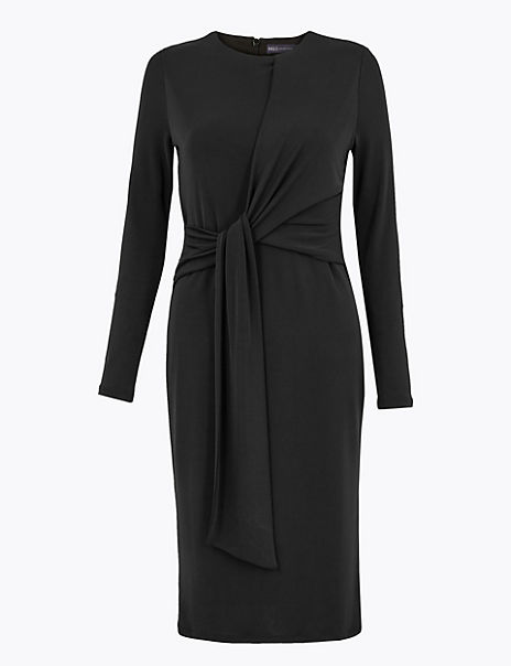 PETITE Jersey Bodycon Midi Dress