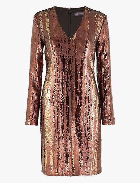 Sparkly Shift Mini Dress