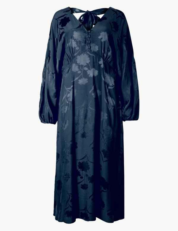 cd9052573e6 Jacquard Fit   Flare Midi Dress