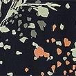 Tailliertes Midi-Kleid mit Blumenmuster, MARINEBLAU MELANGE, swatch