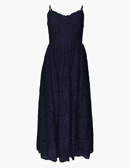 Lace Fit & Flare Midi Dress