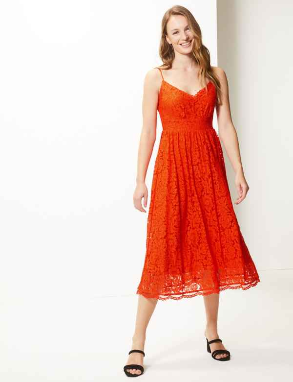 d50593aa849 Lace Fit   Flare Midi Dress