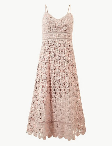 Lace Waisted Midi Dress