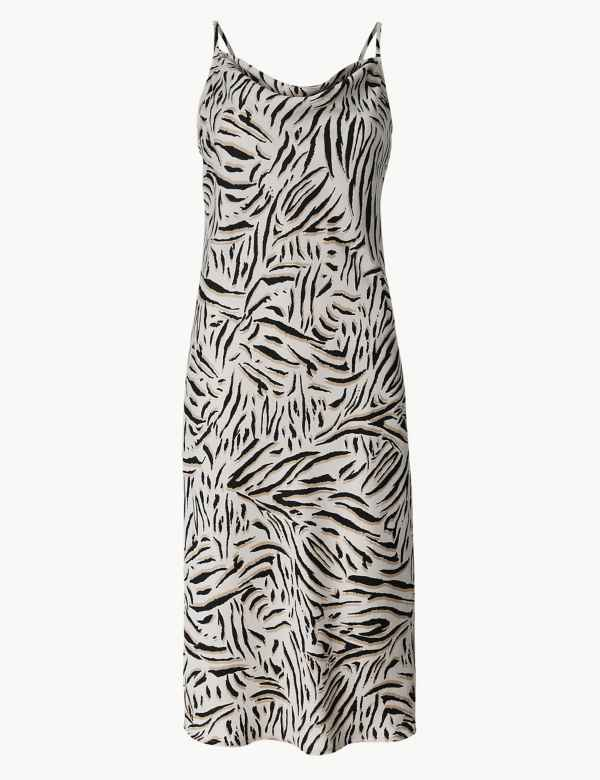 ab15d882eafcbd Animal Print Slip Midi Dress