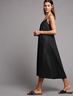 Pure Cotton Swing Midi Dress