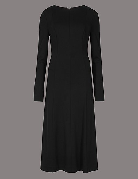 Product images. Skip Carousel. Jersey Long Sleeve Skater Midi Dress 44d3735a3