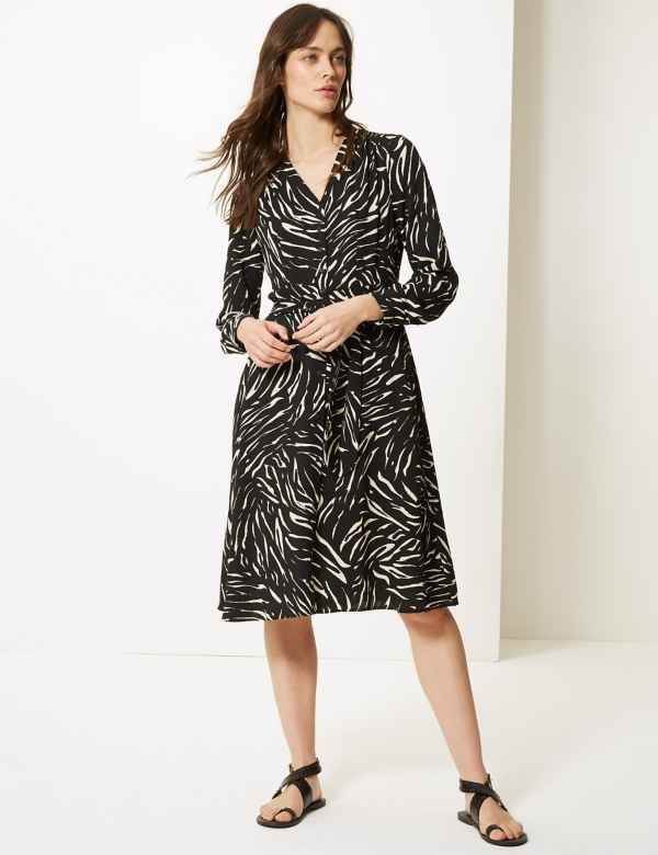 fece4880e3 Zebra Print Shirt Dress