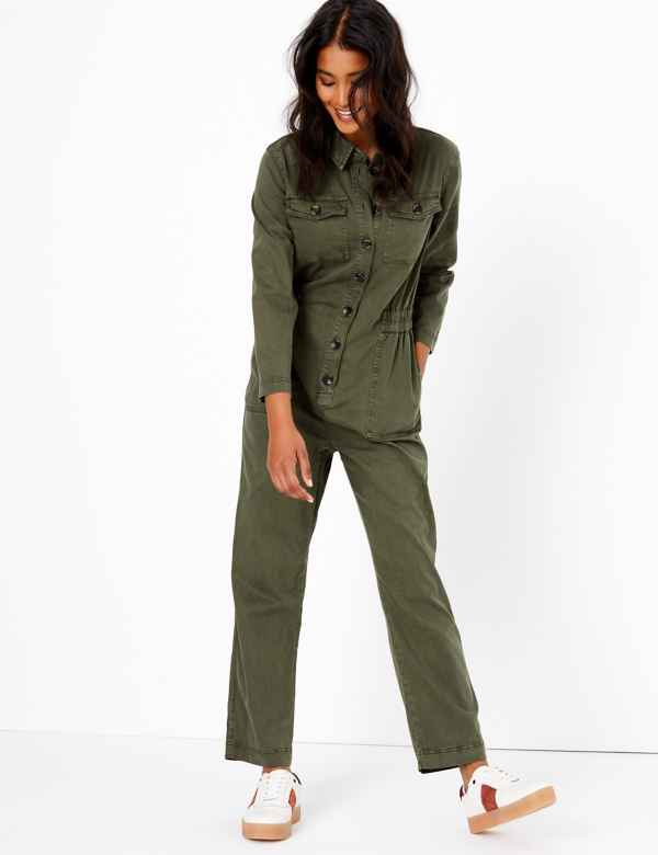9b7e60e72 Cotton Blend Utility Waisted Jumpsuit