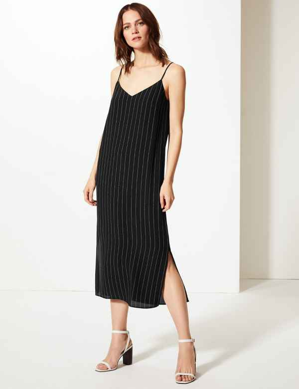 2770fe52f8c Striped Slip Midi Dress