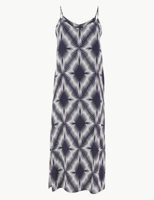 e61223aa29ad Diamond Print Slip Midi Dress £29.50