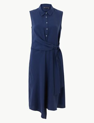 0728c5dd2ac Side Tie Sleeveless Midi Shirt Dress £45.00