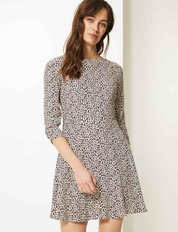 8e6fb044372f Animal Print Fit & Flare Mini Dress