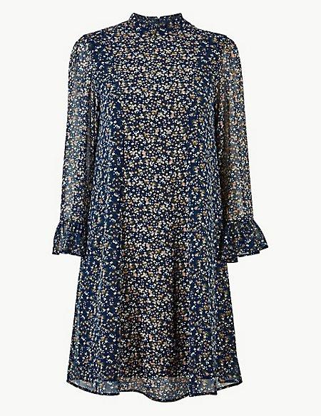 Floral Print Swing Mini Dress