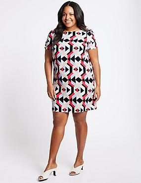 CURVE Geometric Print Tunic Dress