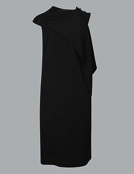 Shoulder Detail Shift Dress