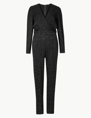Animal Print Long Sleeve Jumpsuit by Marks & Spencer