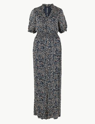 802831334 Floral Shirred Waist Jumpsuit £59.00