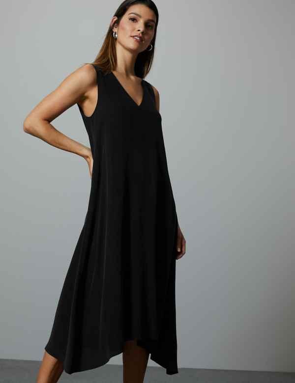 4c84a190955 Pure Silk Swing Midi Dress