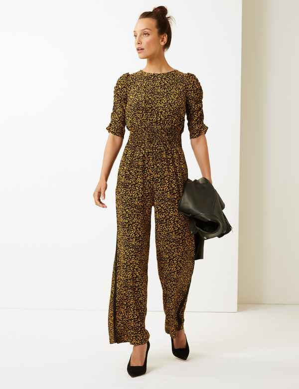 aca7967989 Animal Print Maxi Jumpsuit