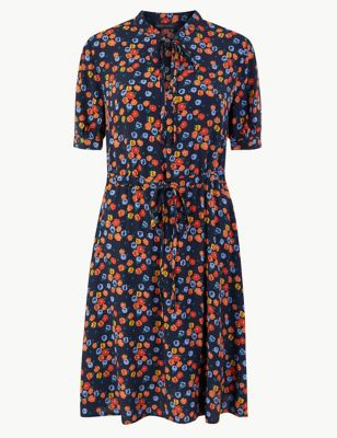 423b8bef68085 Floral Print Mini Waisted Dress £35.00