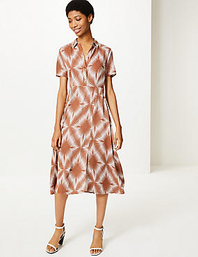692b465a814 Diamond Print Shirt Midi Dress
