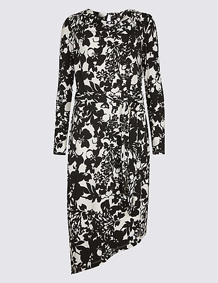 Discount Lowest Price Marks & Spencer Floral Print Cowl Neck Bodycon Midi Dress - - 6/Regular Buy Cheap 100% Original Free Shipping Geniue Stockist Limited Edition Online Pay With Visa For Sale vkhxxh7