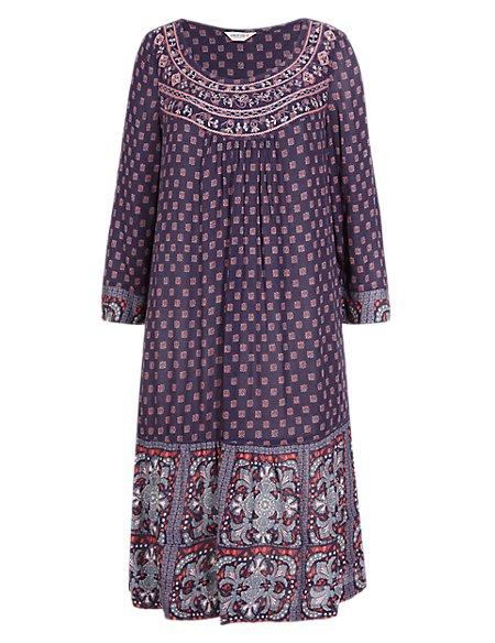 Yoke Embellished Tunic Dress