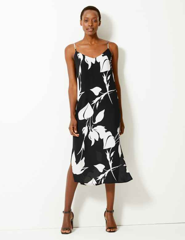 7a4294abf7d9ae Printed Slip Midi Dress. New. M&S Collection