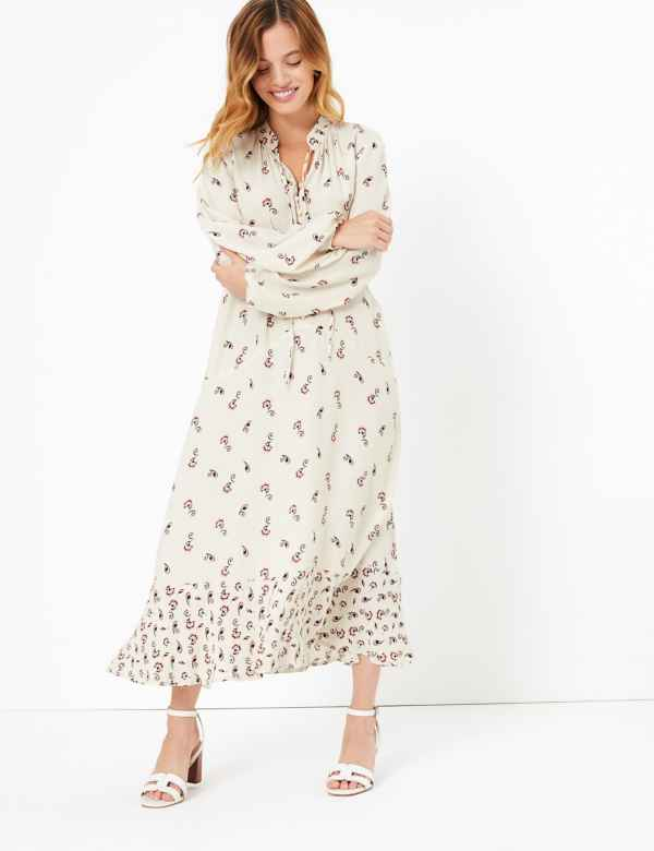 4bbc08d13d58 PETITE Printed Midi Relaxed Fit Dress