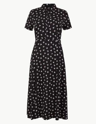 c3dd25e1c2d Floral Print Shirt Midi Dress £39.50