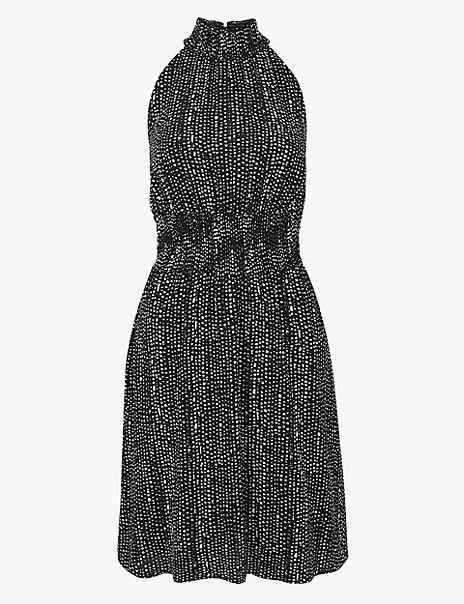 Printed Waisted Dress