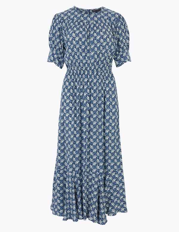 18 Ex-M /& S Womens Black Polka Dot Jersy Dress Size 6 8 12 10 14 16