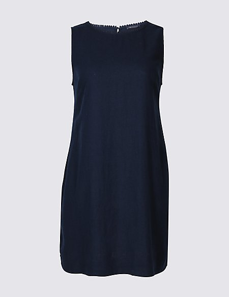 CURVE Linen Blend Tunic Dress