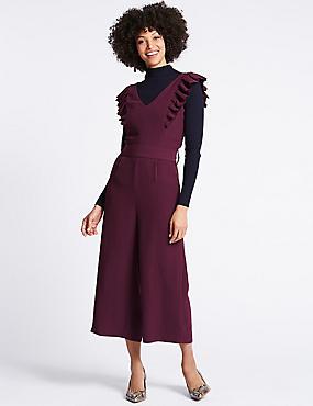 Culotte Frill Sleeve Jumpsuit