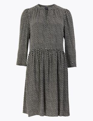 Dash Print Mini Relaxed Dress