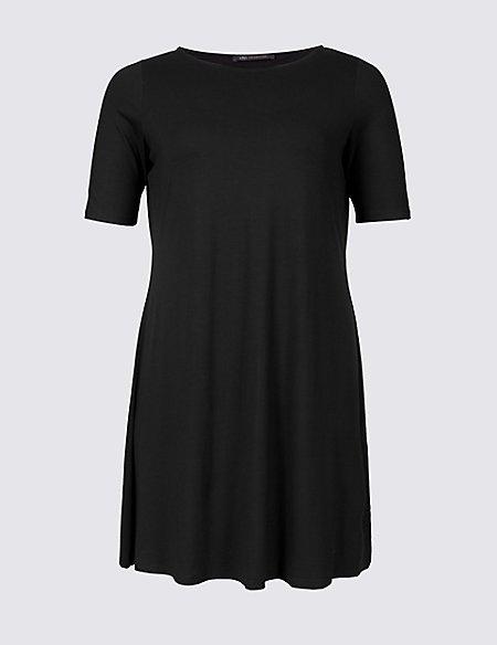 CURVE Short Sleeve Swing Dress