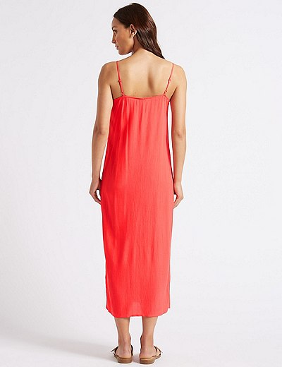 Front Split Slip Midi Dress flame Marks and Spencer Discount Codes Really Cheap Sale Wide Range Of Clearance Prices Buy Cheap Latest Collections k065j4