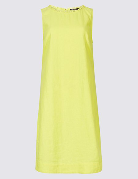 Marks & Spencer Linen Blend Sleeveless Tunic Dress - - 6/Regular Release Dates Cheap Online Outlet Store Locations Free Shipping Cheapest Price Get Authentic Cheap Online Outlet Cheapest PNLnh